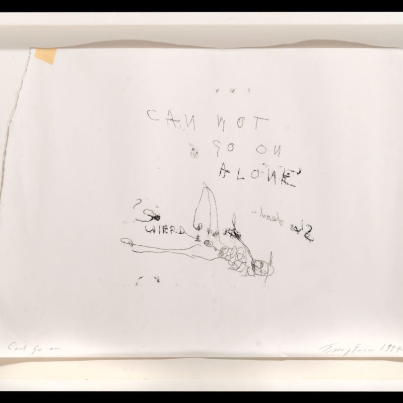 4358 - Tracey Emin - Can't Go On, 1997 - Framed