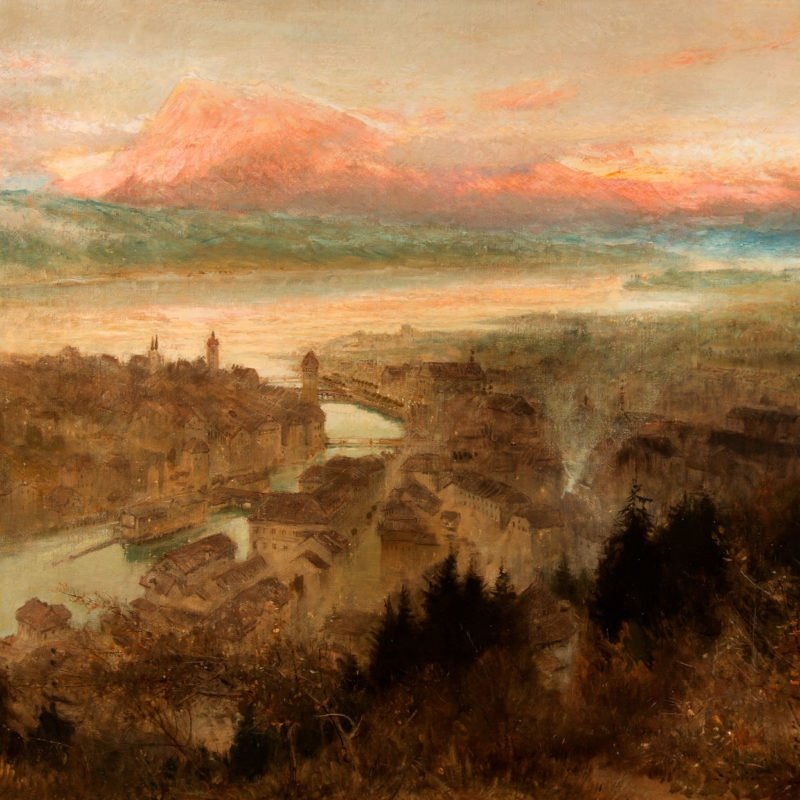 4527 - Albert Goodwin - View of Lucerne - Unframed