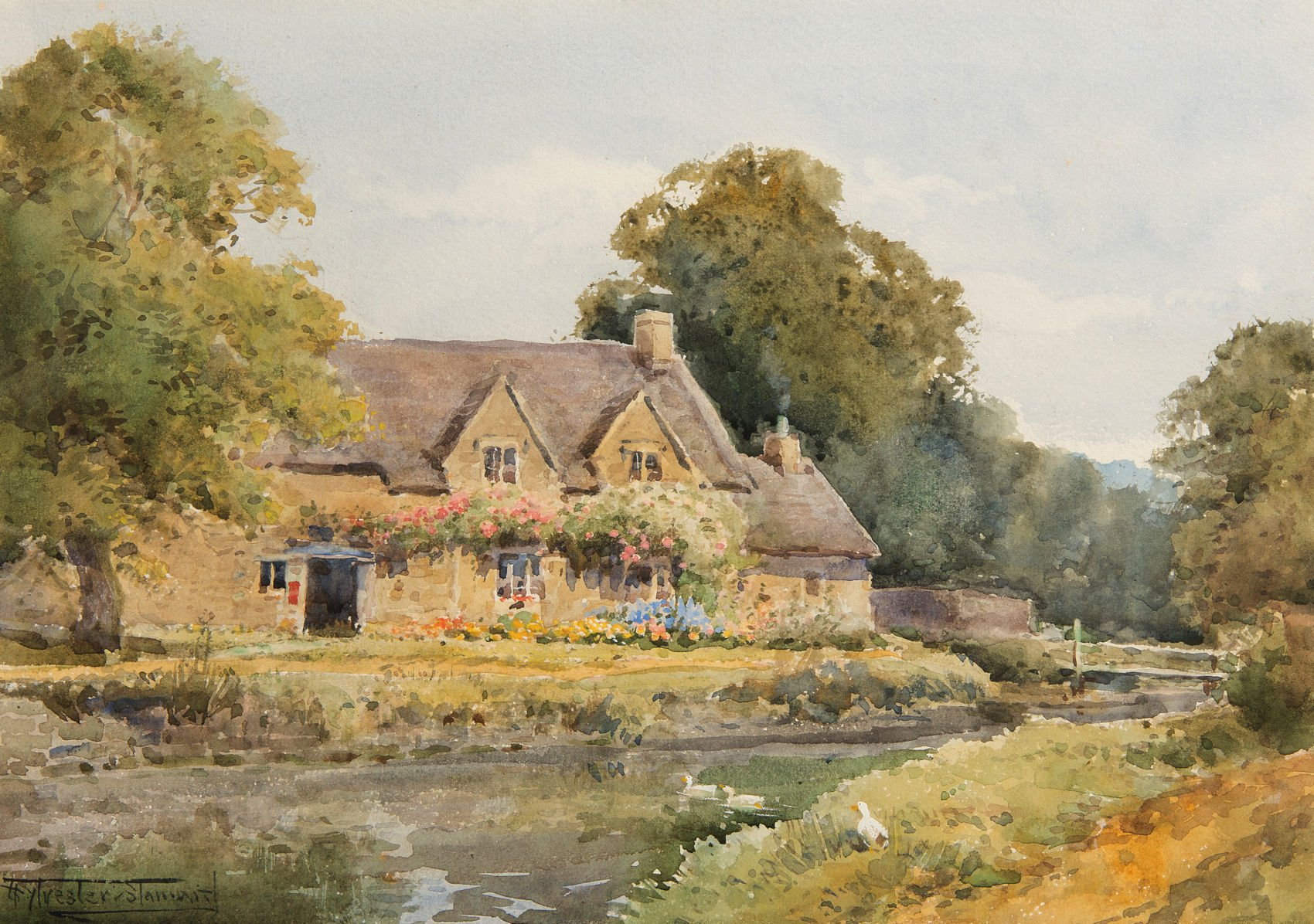 4602 - Henry Stannard - Lower Slaughter Post Office, Gloucestershire - Unframed
