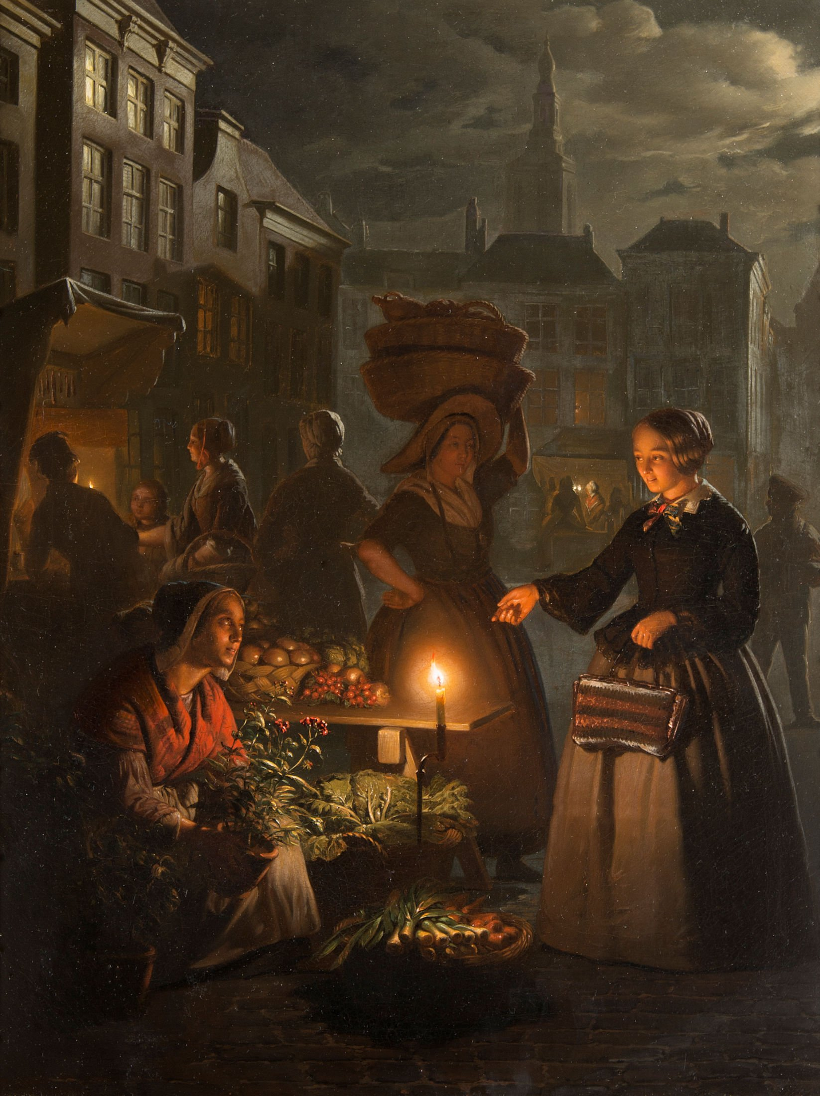 4632 Petrus van Schendel - The Night Market - Unframed