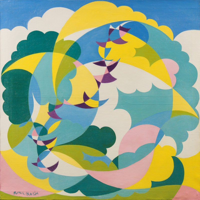 Giacomo Balla Landscape and Swallows in Flight
