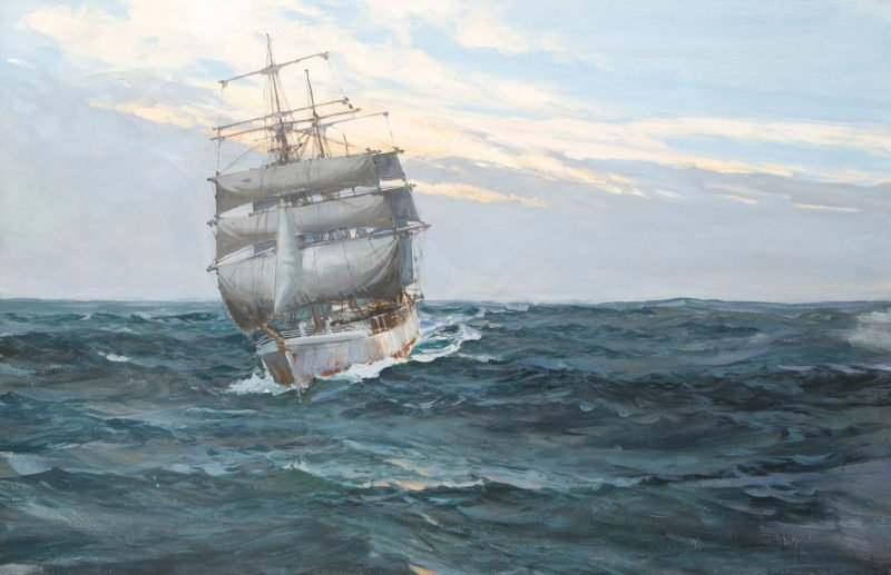 Montague Dawson tea clipper