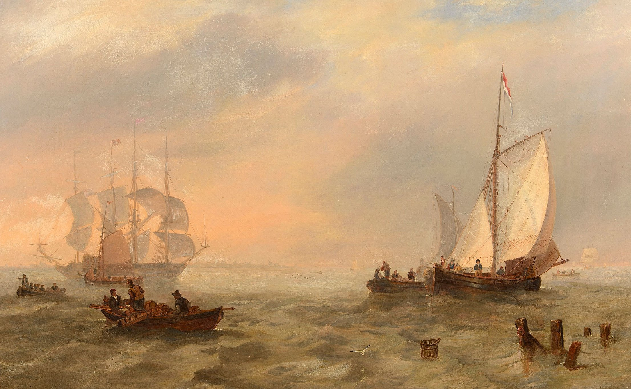 335-John-Wilson-Carmichael-Dutch-Shipping-on-the-Scheldt