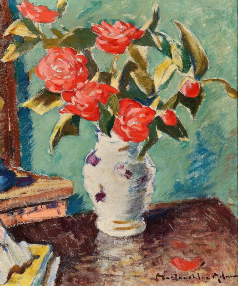 5593-john-Milne-red-roses-in-a-vase
