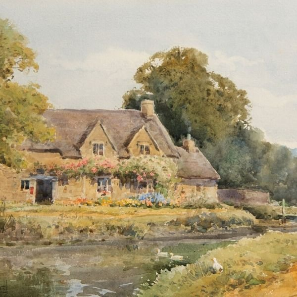 Lower Slaughter Post Office, Gloucestershire by Henry John Sylvester Stannard