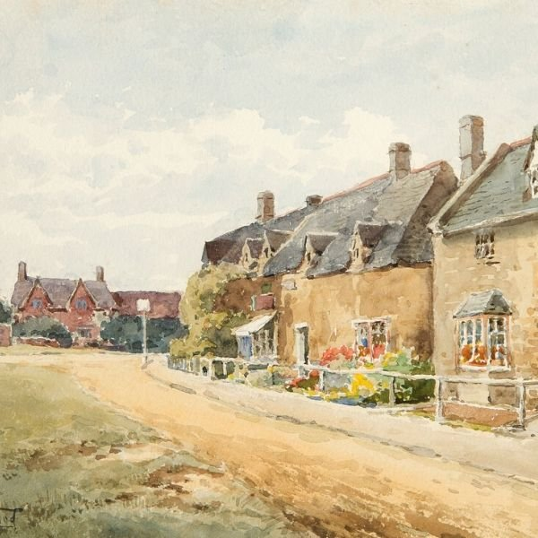 Broadway Village Green by Henry John Sylvester Stannard