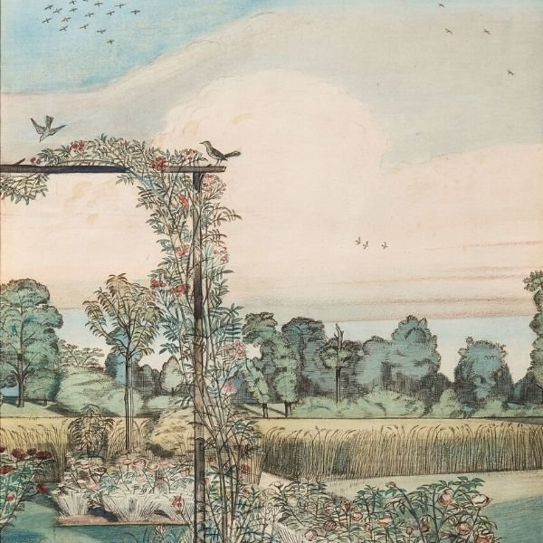 The Garden at Wood Lane House, Iver Heath, 1912 by Paul Nash