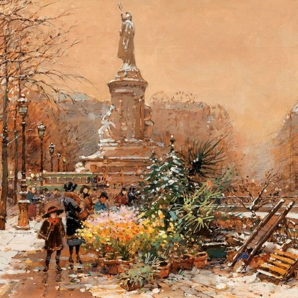 La Place de la République by Eugène Galien Laloue