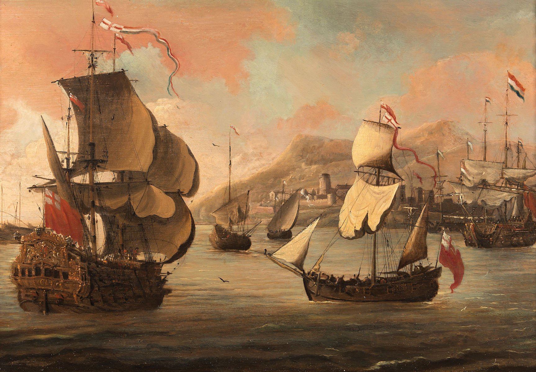war ships off the coast by Jacob Kniff