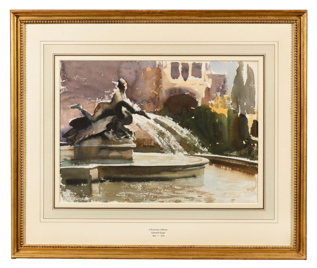 Edward Seago - A Fountain In Rome - TrinityHousePaintings