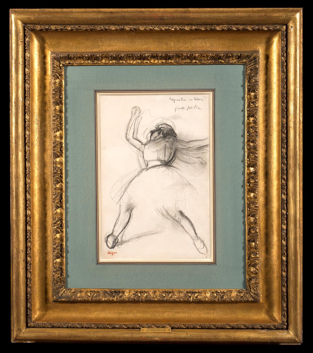 A ballet dancer mid movement with arms and legs outstretched