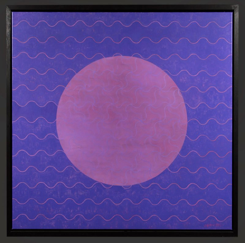 Purple square with pink circle