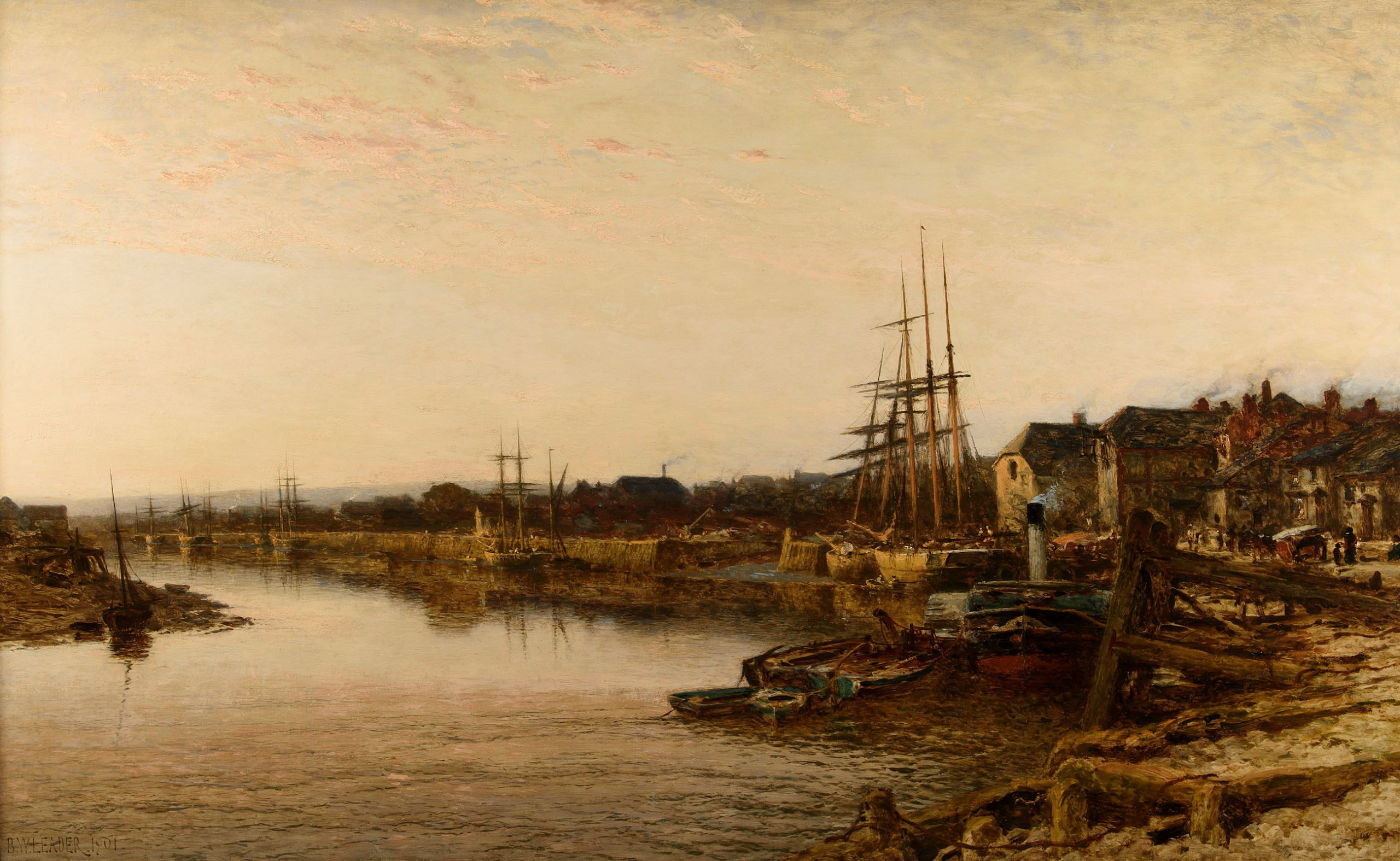 An Old Southern Port, 1901 by Benjamin Williams Leader