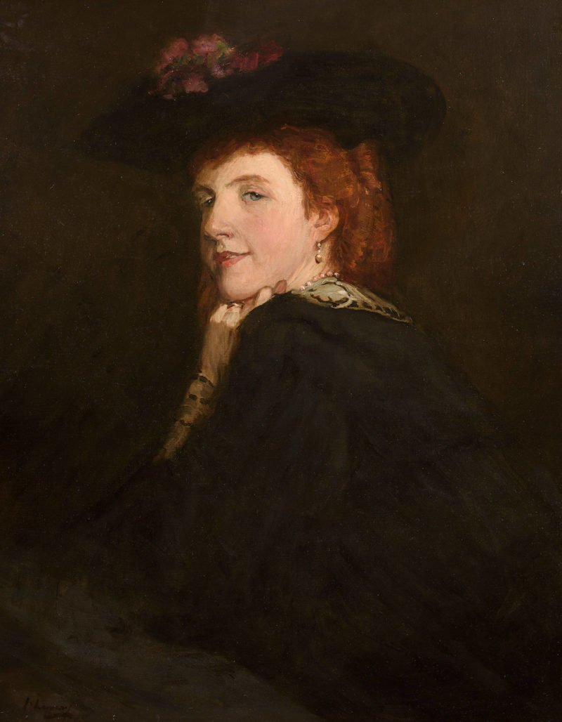 portrait of a lady looking over her shoulder